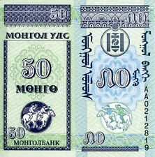 MONGOLIA 50 Mongo Banknote World Paper Money UNC Currency Pick p-51 Small Note