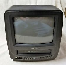 "DAEWOO 9"" Color TV VCR COMBO DVQ-9H1FC Black VHS Player Gaming No Remote VGC"