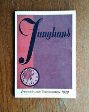 Junghans Katalog 1929, Wecker und Tischuhren, Uhrenbuch, Musterbuch