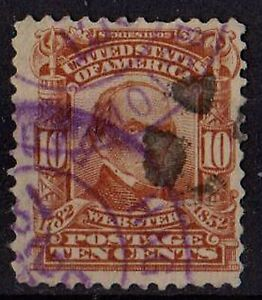 US 1903 Scott #307 Webster 10 Cents Pale red brown 12 perf STAMP