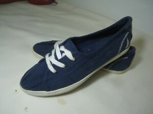 NAUTICA Casual Boat Style Lace Up Girl/Women Shoe  22CM US 5.5 BLUE WHITE