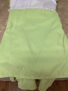 "WAMSUTTA BED SKIRT DOUBLE SIZE LIME GREEN 14.5""  SPLIT CORNERS WHITE PLATFORM"