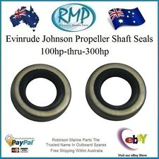 2 x New Evinrude Johnson Propeller Shaft Oil Seal 100hp-thru-300hp  # 320862