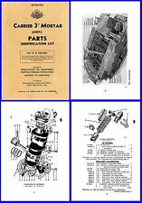 "Carrier Mortar 3"" ( Modified Bren Gun Carrier) Aust Parts List Illustrated DVD"