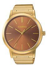 Casio LTP-E118G-5A Women's Standard Oversized Rose Gold Tone 3-Hand Analog Watch