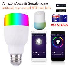 WiFi Remote Control Smart LED Bulb E27 / E26 B22 RGB Light for Alexa Google Home