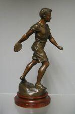 Sculpture En Régule De G Demange. Lancement Du Disque. Sport. Athlétisme.