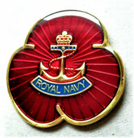 BRAND NEW 2020 RED COMMEMORATIVE ENAMEL PIN BADGE ROYAL NAVY , MILITARY