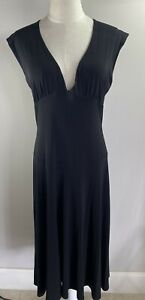 Moss & Spy - Black Flowing Dress - Size 12 - Preowned VGC