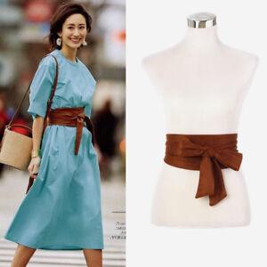 Japanese Vintage Bows Obi Belt Wide Strap Sash Tie Coat Dress Corset Wiastband D