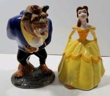 DisneyBeauty And The Beast Dance Ceramic Figurines Vintage