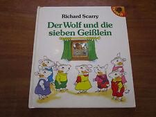(E94) KINDERBUCH DER WOLF UND DIE SIEBEN GEISSLEIN RICHARD SCARRY FAVORIT 1991