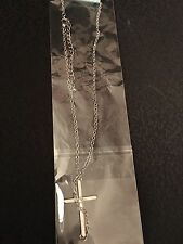 Cross Charm on a surgical steel necklace