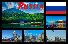 RUSSIA - SOUVENIR NOVELTY FRIDGE MAGNET - SIGHTS / FLAGS - GIFTS - BRAND NEW
