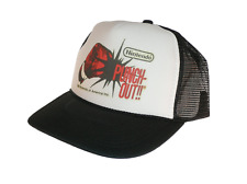 Vintage Punch Out nintendo hat Trucker Hat Mesh Hat Free Shipping black