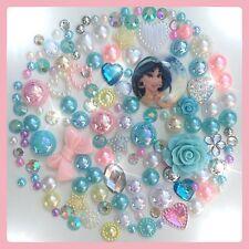 Disney Aladdin Jasmine Theme Cabochon Gem & pearl flatbacks, decoden crafts #1