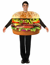 Hamburger Burger Adult Costume Photo Realistic Food One Size Fits Most Unisex