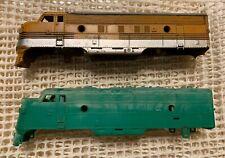 Tyco/Mantua F-units Rio Grande And Plain Green - Shells Only