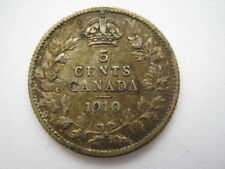 Canada 1910 5 cents GF Pointu feuilles