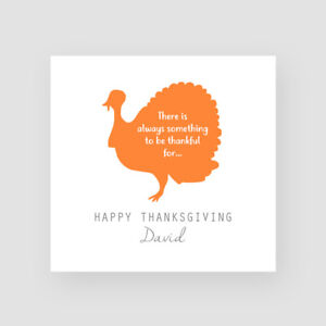 Personalised Handmade Thanksgiving Card For Him Her Thank You Fall Turkey