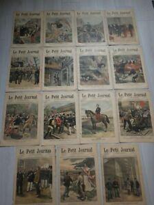 LE PETIT JOURNAL 1899 lot de 15 numéros complets