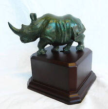 Verdite Stone Shona Sculpture of a Rhinocerous - Stunning Item