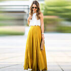 Women Chiffon Long Skirt New Fashion Bohemian Beach Pleated Skirt Summer Maxi