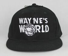 WAYNE'S WORLD CAP Cotton Black Wayne Baseball hat SNL Movie Costume Mike Myers