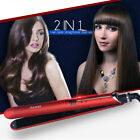 100-240V 2 IN 1 Professional Hair Plate Heating Ceramic Tourmaline Styling