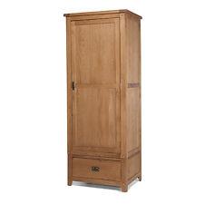 Rustic Oak Single Wardrobe With Drawer   Aylesbury Range
