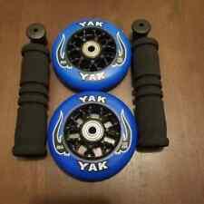 2 100mm Razor Scooter Replacement Wheels w Bearings + Grips / Pro Mgp Lucky Kick