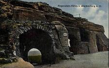 Blankenburg Sachsen-Anhalt Harz AK ~1910 Regenstein Höhle Felsformation Felsen