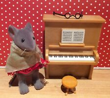 Sylvanian Calico Critters Angelina Ballerina's Miss Quaver with Piano & Stool