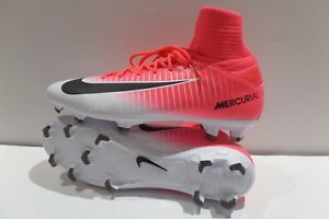 New Nike Jr Mercurial Superfly V FG 831943 601 Pink/White Youth Soccer Cleats 4Y