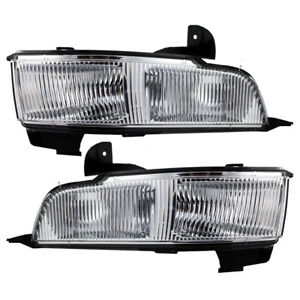 Pair Set Fog Lights Lamps Lens & Housing Assembly SAE for 2006-2011 Cadillac DTS
