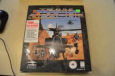COMPLETE IN BOX TEAM APACHE HELICOPTER COMBAT MINDSCAPE PC CD-ROM COMPUTER GAME