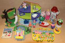 Peppa Pig Large Playset Toy Bundle, House, Tree, Figures, Alphabet, Plush, Xmas