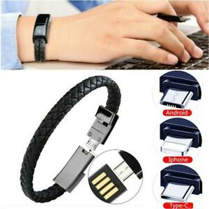 Creative Hand Chain Type C/IOS/Micro USB Data Line Hand Ring Cortex Bracelet