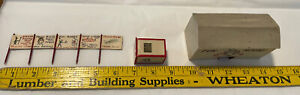 Vintage Model Train Set Carnival Fun House Ticket Booth Attraction Signs