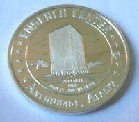 Vtg 1985 Anchorage Alaska Enserch Center 1 Troy oz .999 Silver Round Coin (136)