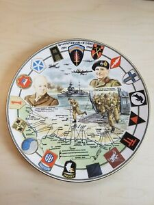 50th Anniversary D-Day Commemorative Plate Royal Worcester Eisenhower Montgomery