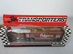 NASCAR Super Star Matchbox Folgers Racing Team Limited Edition Transporter - NIB