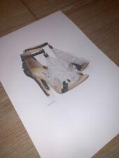 Silver glitter Zapato de impresión de imágenes de moda A4 solamente Sin Marco Con Purpurina