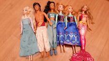 Barbie Disney Princesa Elsa, Anna, Jasmine, Aladdin Paquete De Muñeca Barbie