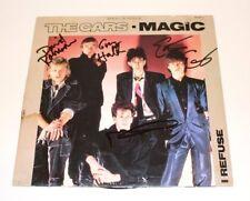 THE CARS BAND SIGNED MAGIC SINGLE VINYL RECORD w/COA PROOF x4 RIC OCASEK