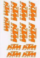 KTM Racing MATT or GLOSS Orange Stickers Super Duke Enduro Adventure RC8 RC16