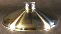 """2.25 X 10"""" Nickel Porcelain Industrial Style Metal Cone Lamp Light Shade Pendant"""