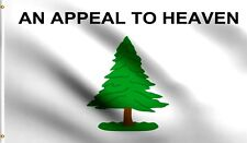 AN APPEAL TO HEAVEN Flag 3x5 ft Realistic Pine Tree American Revolution Liberty