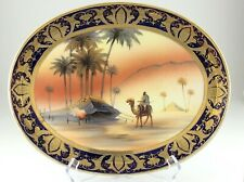 Noritake Hand Painted Desert Scene Egyptian Revival Art Deco Raised Gold R482