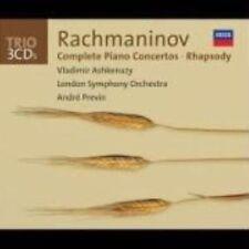 Rachmaninov Comp Piano Concertos Rhapsody 3 CD Album Classical Music Set
